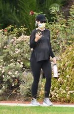 Pregnant KATHERINE SCHWARZENEGGER Out in Brentwood 07/29/2020