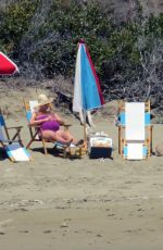 Pregnant KATY PERRY in Swimsuit at a Beach in Santa Barbara 07/26/2020