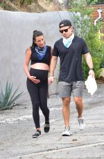 Pregnant LEA MICHELE Out in Los Angeles 06/24/2020