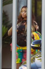 Pregnant NICKI MINAJE Heading to a Photoshoot in West Hollywood 07/21/2020