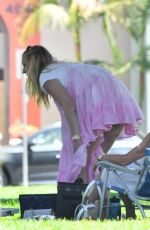 Pregnant SOPHIE TURNER and Joe Jonas at a Park in Studio City 07/06/2020