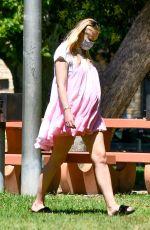 Pregnant SOPHIE TURNER at a Picnic in Studio City 07/06/2020
