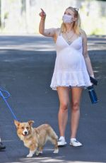 Pregnant SOPHIE TURNER Out in Encino 07/02/2020