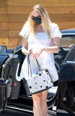 Prewgnant SOPHIE TURNER Out for Lunch in Encino 07/12/2020