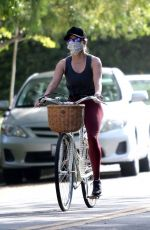 REESE WITHERSPOON Out Riding a Bike in Brentwood 07/11/2020
