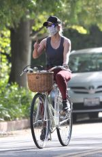 REESE WITHERSPOON Out Riding a Bike in Brentwood 07/14/2020