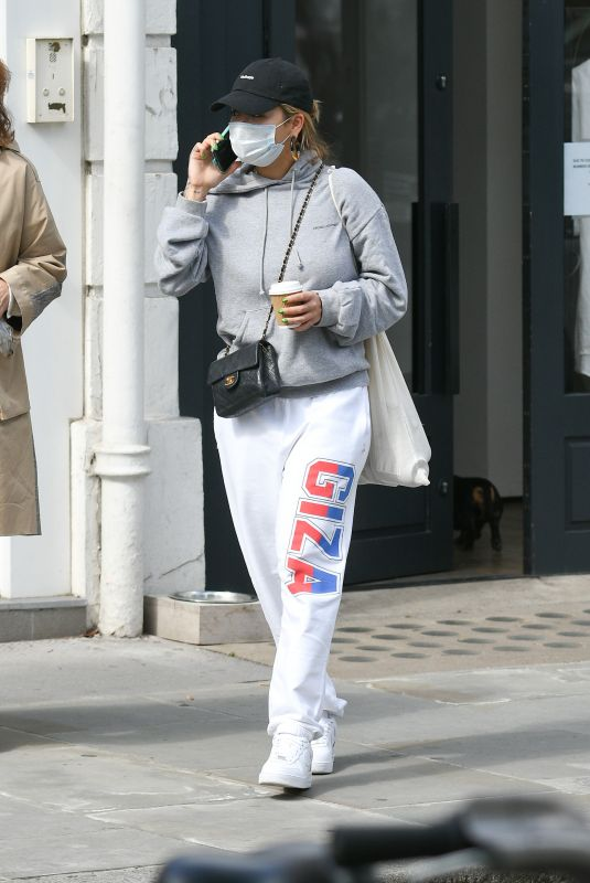 RITA ORA Out Shopping in Notting Hill inb London 07/11/2020