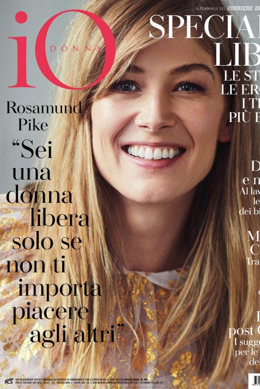 ROSAMUND PIKE in Io Donna Del Corriere Della Sera, July 2020