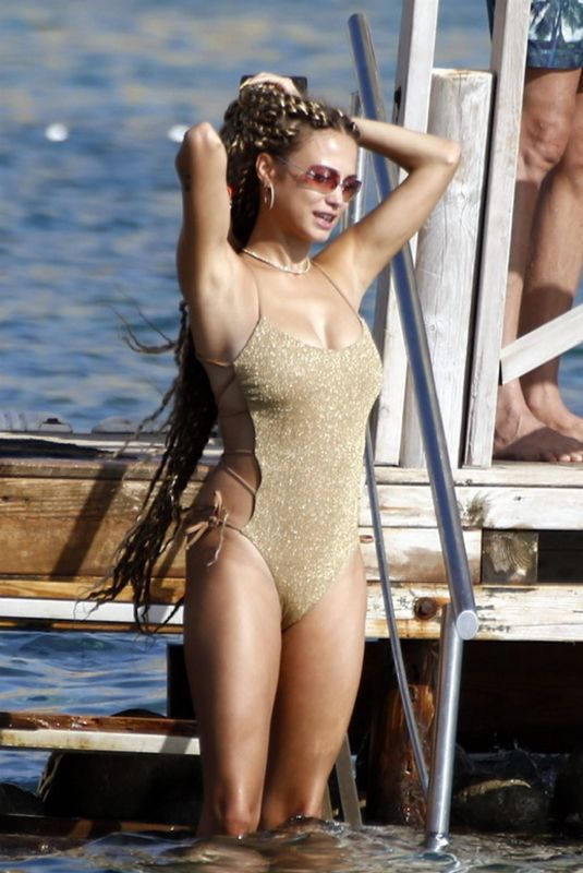 ROSE BERTRAM in Swimsuit on Holiday 07/13/2020