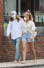 SAILOR BRINKLEY in Denim Shorts Out in New York 07/11/2020