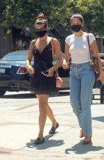 SARA SAMPAIO Out with a Friend at Urth Caffe in West Hollywood 07/13/2020