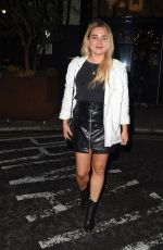 SIAN WELBY Arrives at Treehouse Hotel in London 07/04/2020