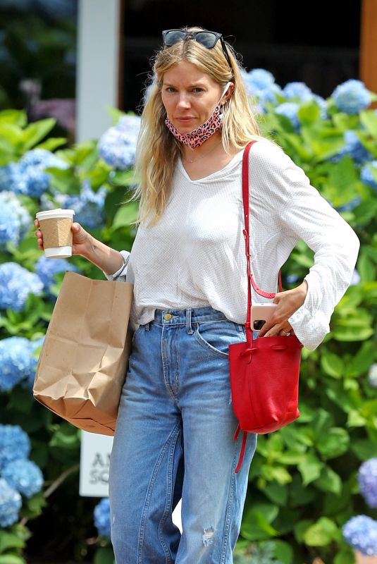 SIENNA MILLER in Denim Out in The Hamptons 07/15/2020