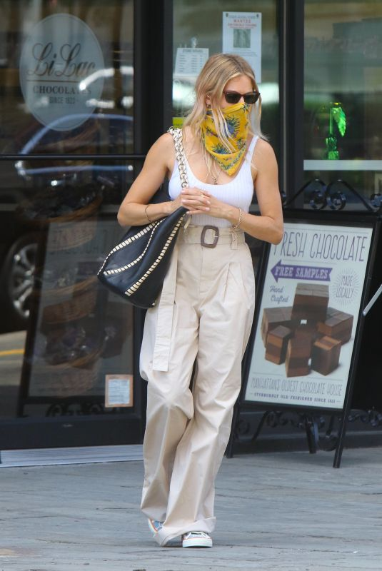 SIENNA MILLER Out and About in New York 07/28/2020