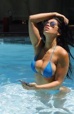 SUELYN MEDEIROS in Bikini at a Pool in Los Angeles 06/29/2020