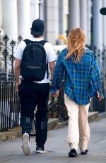 SUKI WATERHOUSE and Robert Pattinson Out in London 07/21/2020