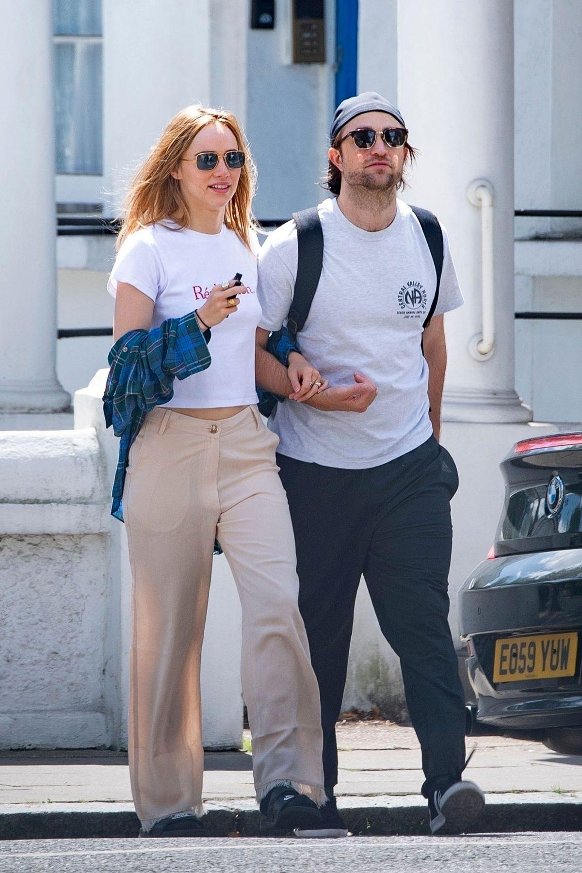SUKI WATERHOUSE and Robert Pattinson Out in London 07/21 ...