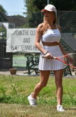 SUMMER MONTEYS-FULLUM Arrives at a Tennis Court in Canterbury 07/19/2020