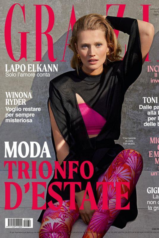 TONI GARRN in Grazia Magazine, Italy July 2020