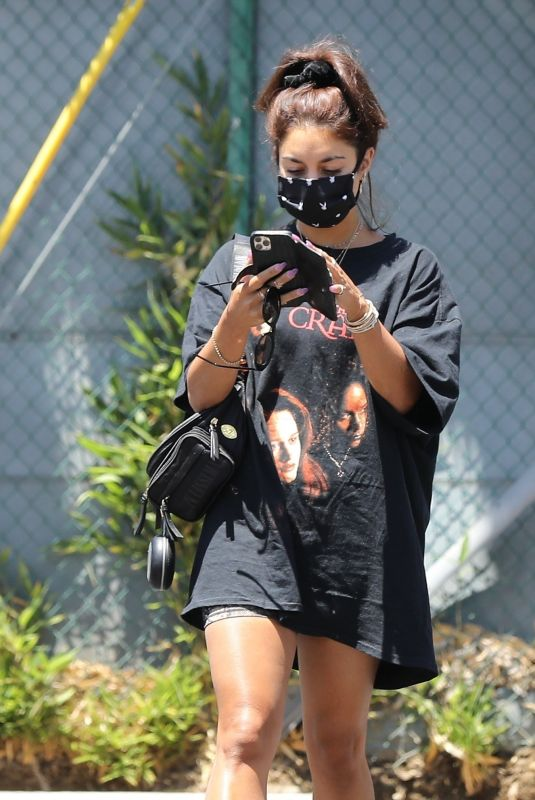 VANESSA HUDGENS Arrives at a Gym in Hollywood 07/16/2020