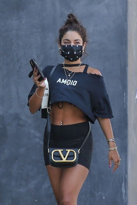 VANESSA HUDGENS Out in West Hollywood 07/22/2020