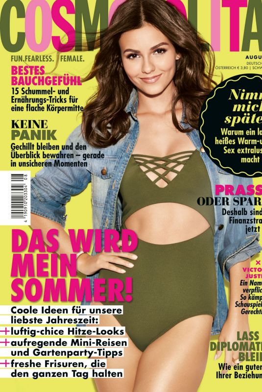 VICTORIA JUSTICE in Cosmopolitan Magazine, Germany August 2020