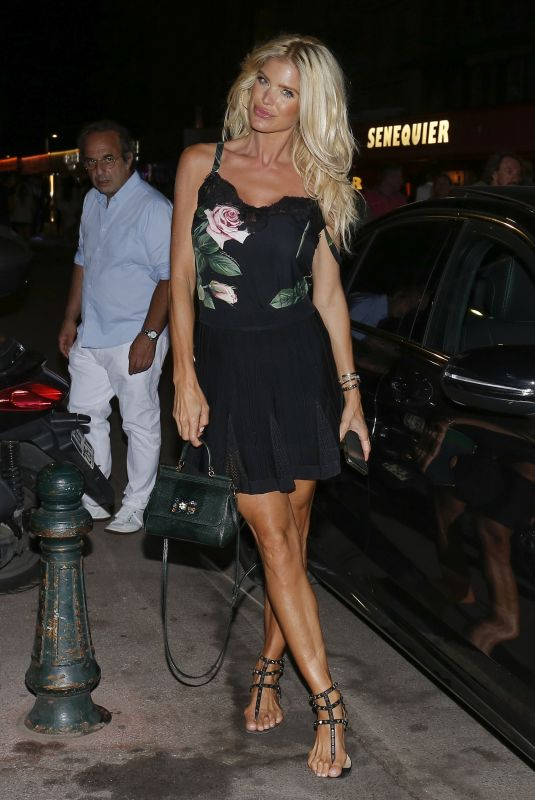 VICTORIA SILVSTEDT Night Out in Saint-Tropez 07/18/2020