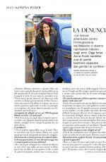 WINONA RYDER in Grazia Magazine, Italy July 2020