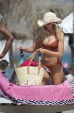 ZARA MCDERMOTT in Bikinis on the Beach in Marbella 07/11/2020