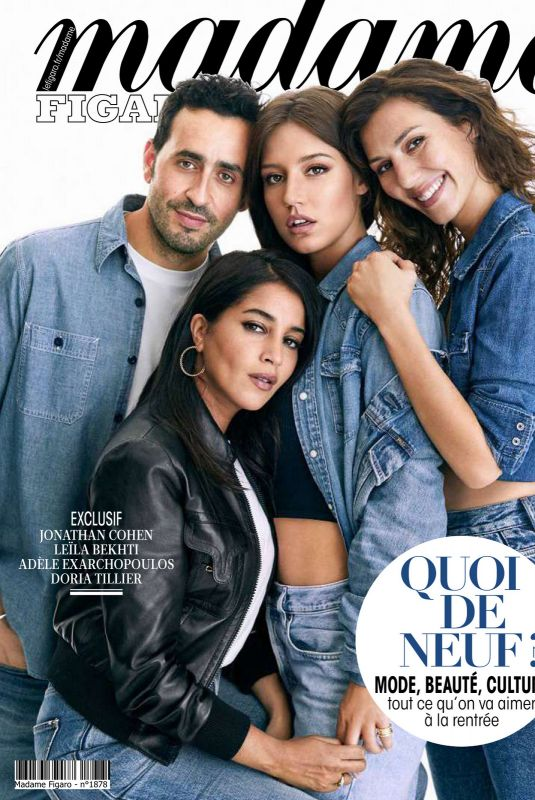 ADELE EXARCHOPOULOS, DORIA TILLIER and LEILA BEKHTI in Madame Figaro, August 2020