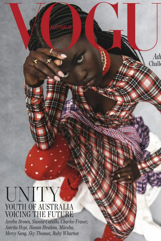 ADUT AKECH in Vogue Magazine, Australia August 2020