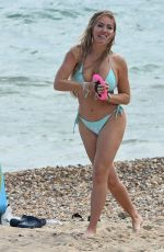 AISLEYNE HORGAN WALLACE in Bikini at a Beach in Bournemouth 08/02/2020