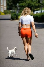 AISLEYNE HORGAN WALLACE Out with Her Dog in London 08/16/2020