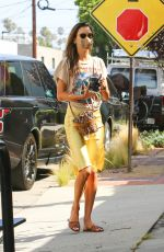 ALESSANDRA AMBROSIO Arrives at Slim Pictures Studio in Los Angeles 08/12/2020