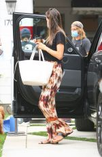 ALESSANDRA AMBROSIO Arrives on the Set of a New Project in Los Angeles 08/13/2020