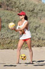ALESSANDRA AMBROSIO in Bikini Bottom Playing Beach Volley at a Beach in Malibu 08/09/2020