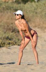 ALESSANDRA AMBROSIO in Bikini Playing Volleyball at a Beach in Santa Monica 08/22/2020