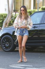 ALESSANDRA AMBROSIO in Denim Shorts Out in West Hollywood 08/17/2020