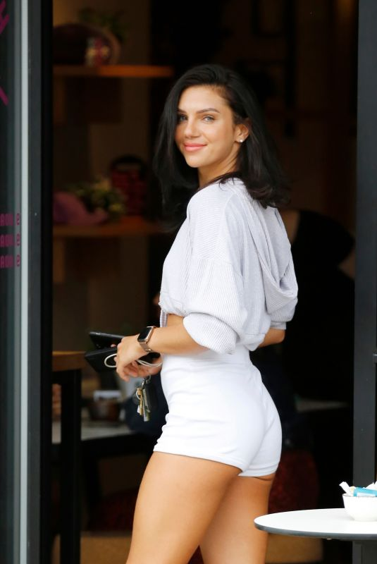 ALEXANDRA CANE in a Shorts Arrives at Power of Health Cafe in Cockfosters 08/24/2020
