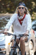ALI LARTER Out Riding Bike in Santa Monica 08/21/2020