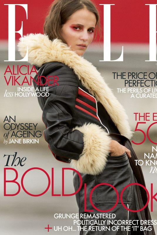ALICIA VIKANDER for Elle Magazine, October 2020