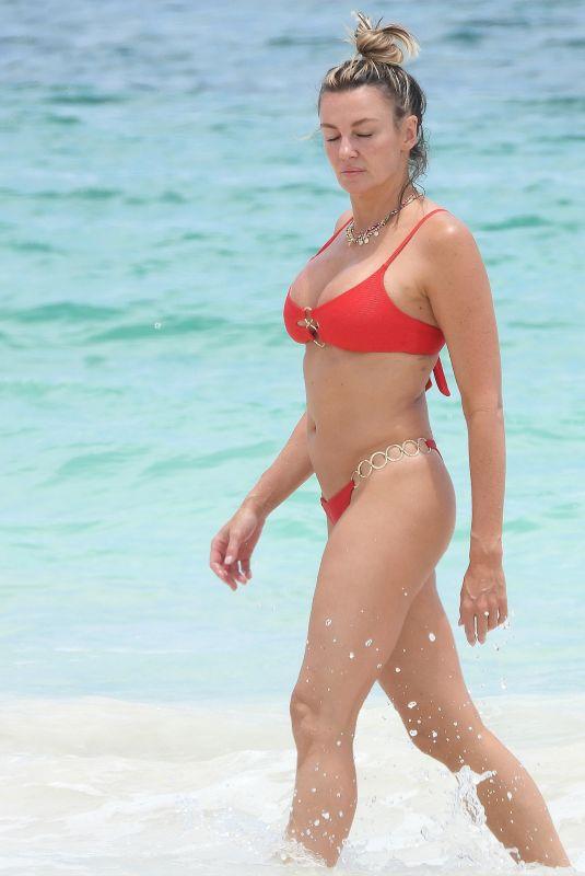 AMBER NICHOLE MILLER in Bikini at a Beach in Tulum 08/17/2020