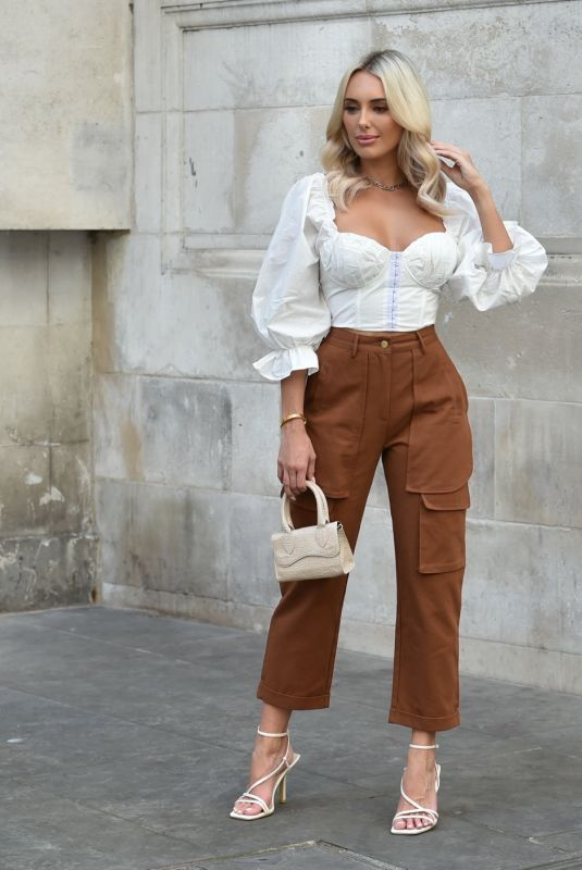 AMBER TURNER at a Boohoo Photoshoot in London 08/09/2020