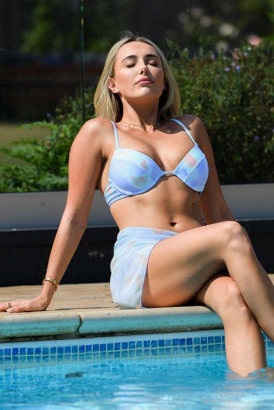 AMBER TURNER in Bikini on the Set of TOWIE 08/12/2020