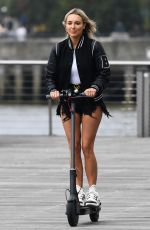 AMBER TURNER on the Set of The Only Way Is Essex in London 08/16/2020