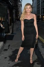 AMY HART Arrives at Oh Polly Party in Mayfair 08/13/2020