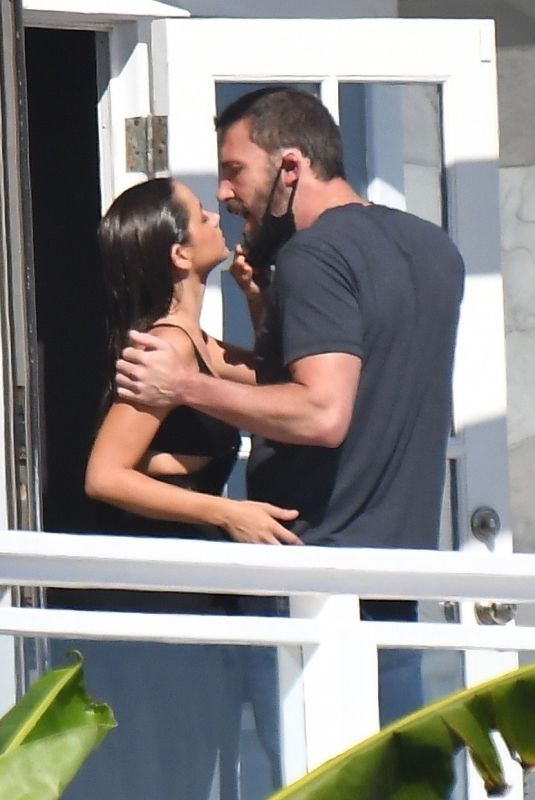 ANA DE ARMAS and Ben Affleck on the Set of Her New Movie in Malibu 08/10/2020