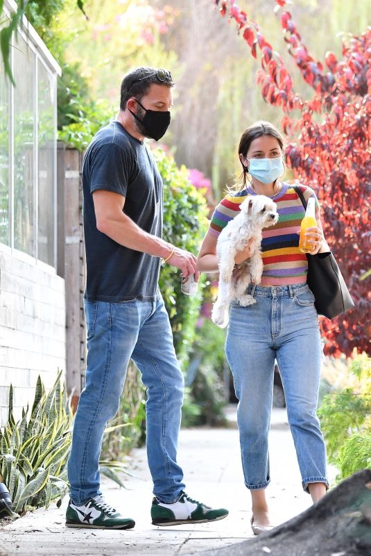 ANA DE ARMAS and Ben Affleck Out with Their Dog in Los Angeles 08/19/2020
