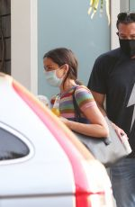 ANA DE ARMAS and Ben Affleck Out with Their Dog in Venice Beach 08/19/2020
