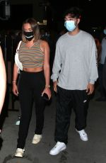 ANASTASIA KARANIKOLAOU abd Zack Bia Out for Dinner at Il Pastaio in Beverly Hills 08/12/2020